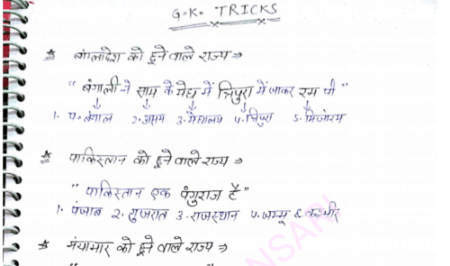 Complete GK Tricks in Hindi PDF Download