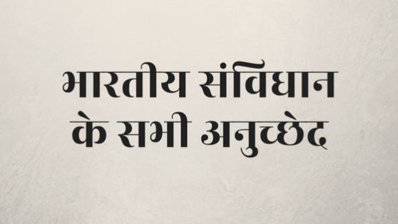 articles of indian constitution in hindi